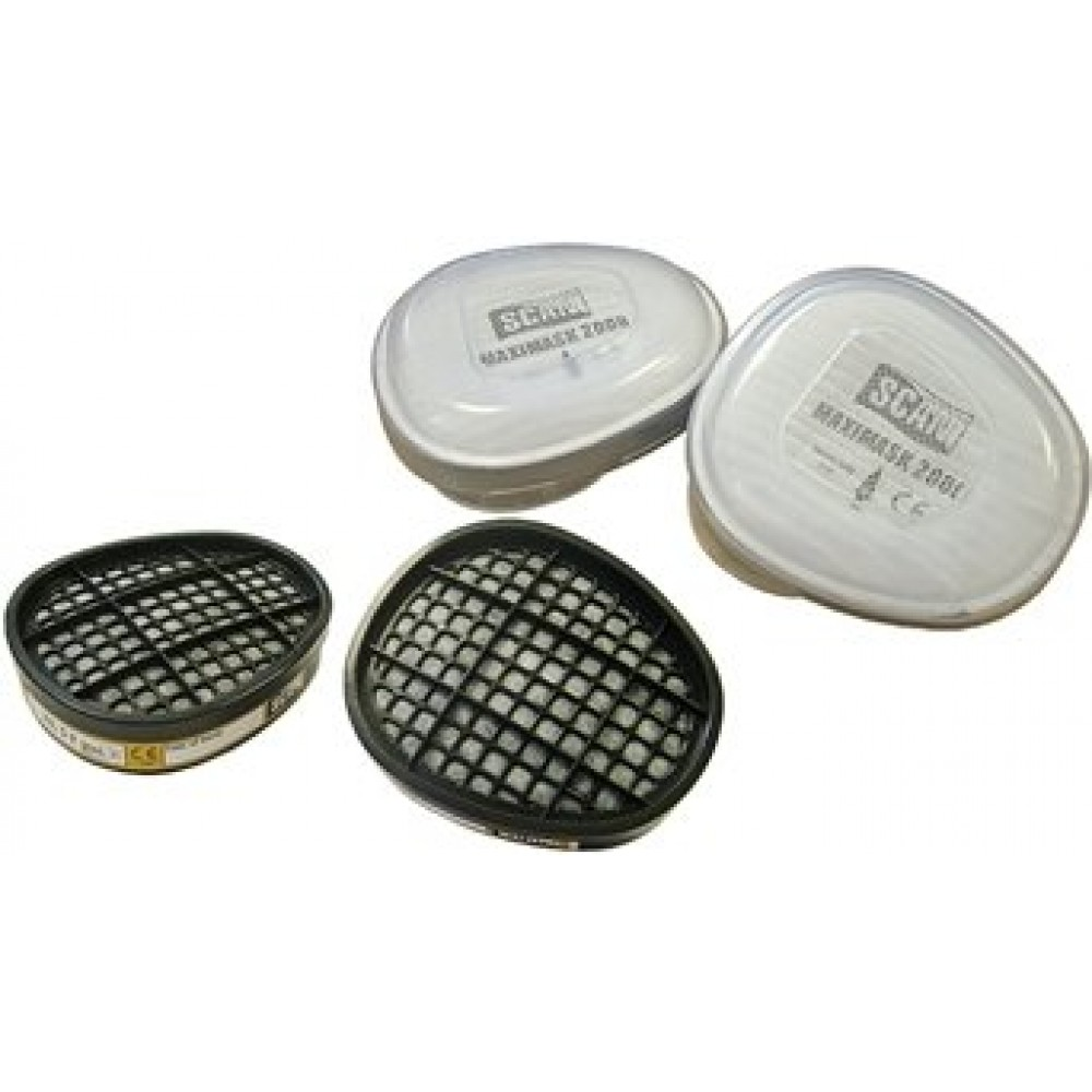 SCAN FILTERS FOR TWIN RESPIRATOR A1 & P2 (PAIR EA)